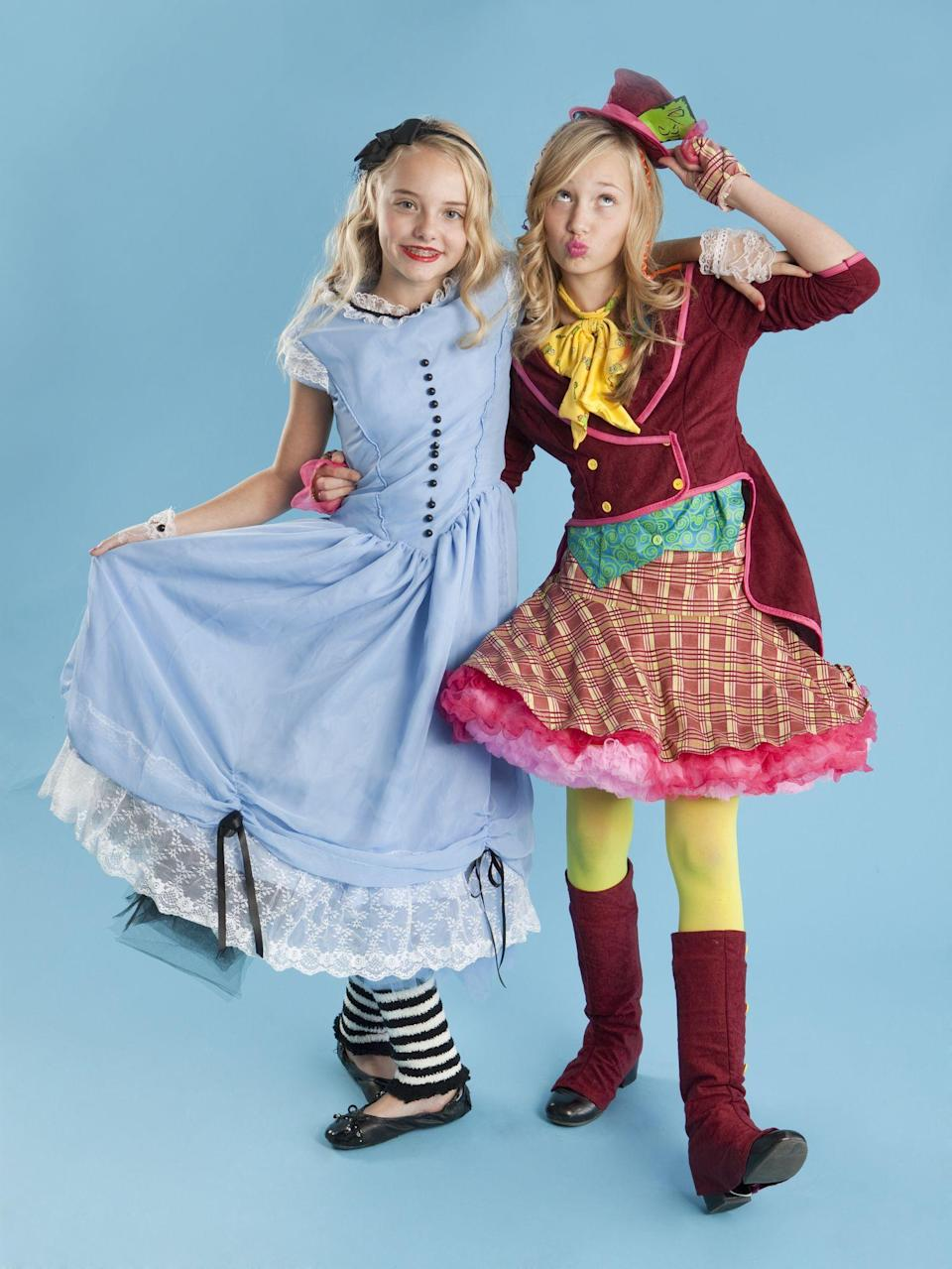"""<p>Every Halloween, do you tend to fall down the internet rabbit hole in search of next-level DIY costume ideas? Why not lean into the madness—seriously—by channeling your <a href=""""https://www.countryliving.com/diy-crafts/g28594281/book-character-costumes/"""" rel=""""nofollow noopener"""" target=""""_blank"""" data-ylk=""""slk:book character costumes"""" class=""""link rapid-noclick-resp"""">book character costumes</a>, in particular the enduringly popular tale <em>Alice In Wonderland? </em></p><p>Story characters range from cute to quirky to a little bit spooky, so there really is a Halloween costume idea for everyone, from <a href=""""https://www.countryliving.com/diy-crafts/g21603260/diy-halloween-costumes-for-tweens/"""" rel=""""nofollow noopener"""" target=""""_blank"""" data-ylk=""""slk:Halloween costumes for tweens"""" class=""""link rapid-noclick-resp"""">Halloween costumes for tweens</a> to <a href=""""https://www.countryliving.com/diy-crafts/a22142517/diy-mens-halloween-costumes/"""" rel=""""nofollow noopener"""" target=""""_blank"""" data-ylk=""""slk:DIY men's Halloween costumes"""" class=""""link rapid-noclick-resp"""">DIY men's Halloween costumes</a>. In that spirit, we rounded up these DIY <em>Alice In Wonderland</em> costume ideas, including Alice herself, Queen of Hearts, the Mad Hatter, Caterpillar, and more, to get your creative juices flowing.<br><br>With skill levels ranging from simple (think basic crafting know-how) to complex (you have a sewing machine and know how to use it, right?), you'll be able to channel your favorite characters while staying within a reasonable budget. Don't forget <a href=""""https://www.countryliving.com/diy-crafts/g21527022/cat-makeup-ideas/"""" rel=""""nofollow noopener"""" target=""""_blank"""" data-ylk=""""slk:cat makeup ideas"""" class=""""link rapid-noclick-resp"""">cat makeup ideas</a> for your Cheshire Cat costume (so creepy!). And if you're just flat out of time (perhaps the White Rabbit is your spirit animal?), we've included a few costume ideas you can shop online right now.<br><br>Explore these <em>Alice in Wonderland</"""