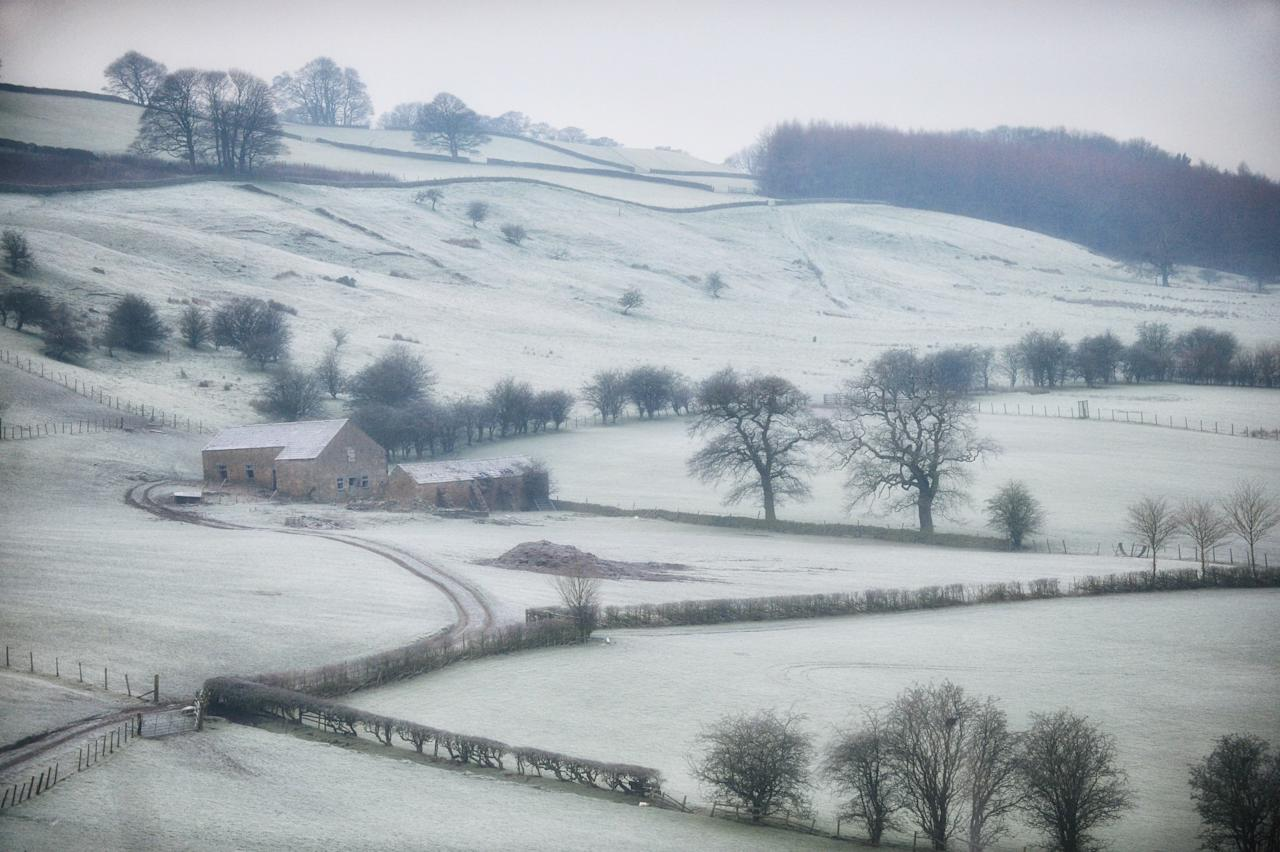 <p>Frost blanketing the countryside in Hassop, Derbyshire [Masons] </p>