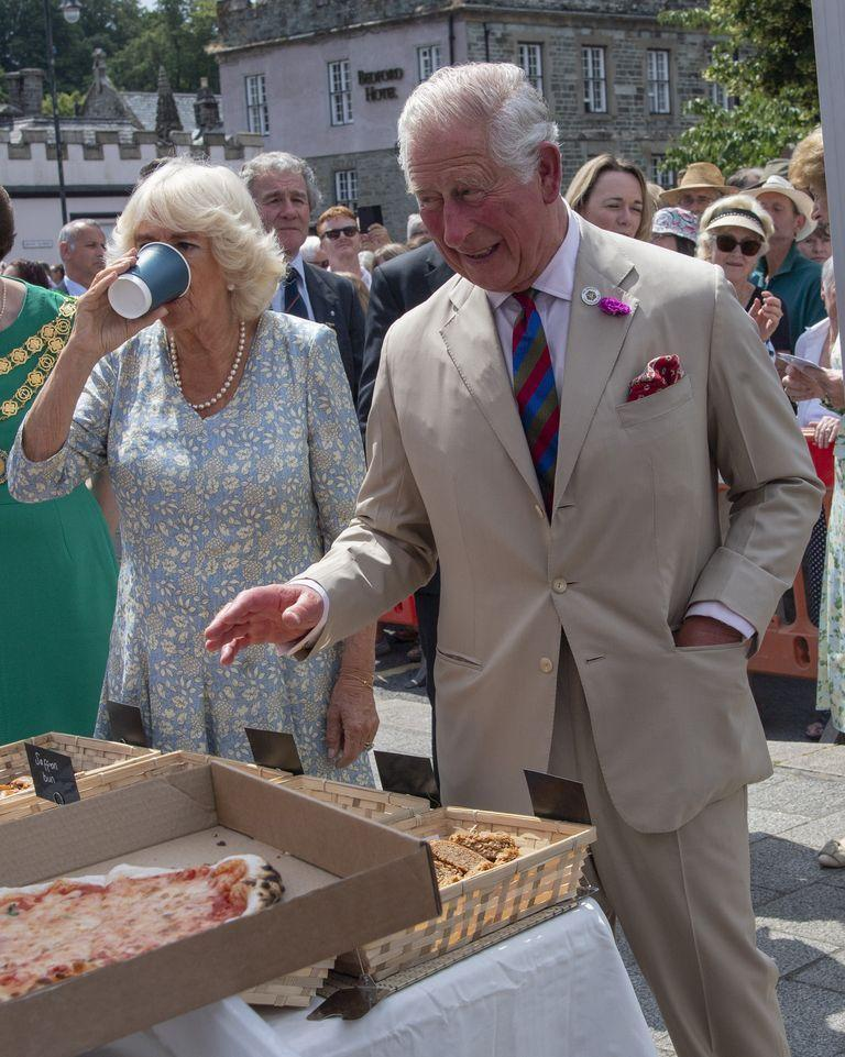 <p>You won't catch Charles digging into that 'za just because he's feeling hungry. And you can chalk this one up to security reasons. It's against the Palace rules for royals to eat at events when food wasn't sanctioned, to avoid being poisoned. </p>