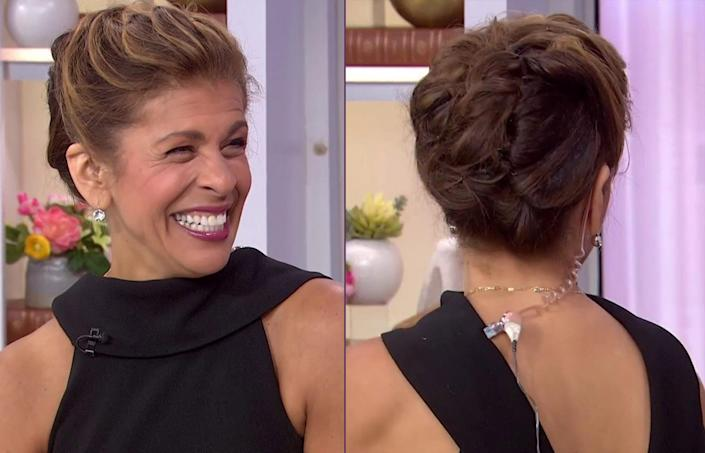 Hoda said that her wavy updo took just a few minutes to come together. (TODAY)