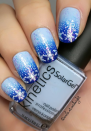 "<p>The term ""winter blues"" gets a new meaning thanks to this snowflake-adorned blue ombre look by <a href=""https://www.instagram.com/nails.at.midnight/"" rel=""nofollow noopener"" target=""_blank"" data-ylk=""slk:Latvia-based nail enthusiast Evita"" class=""link rapid-noclick-resp"">Latvia-based nail enthusiast Evita</a>. Using a sponge is key to achieving that perfect blue gradient on your own.</p><p><a class=""link rapid-noclick-resp"" href=""https://www.amazon.com/yueton-Sponge-Polish-Transfer-Manicure/dp/B018FGRXZA/ref=sr_1_5?tag=syn-yahoo-20&ascsubtag=%5Bartid%7C10072.g.34113691%5Bsrc%7Cyahoo-us"" rel=""nofollow noopener"" target=""_blank"" data-ylk=""slk:SHOP NAIL SPONGE"">SHOP NAIL SPONGE</a></p>"