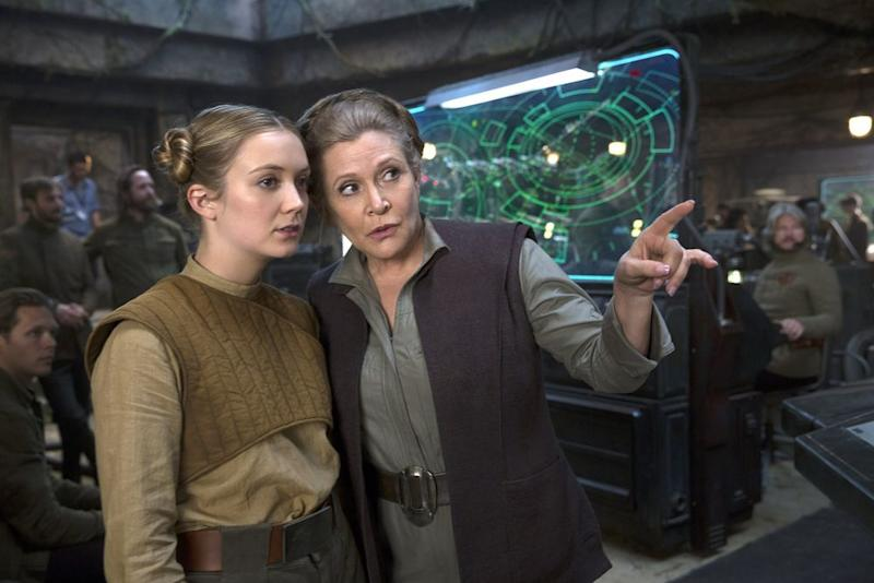 Billie Lourd and Carrie Fisher on the set ofStar Wars: The Force Awakens | Lucas Films
