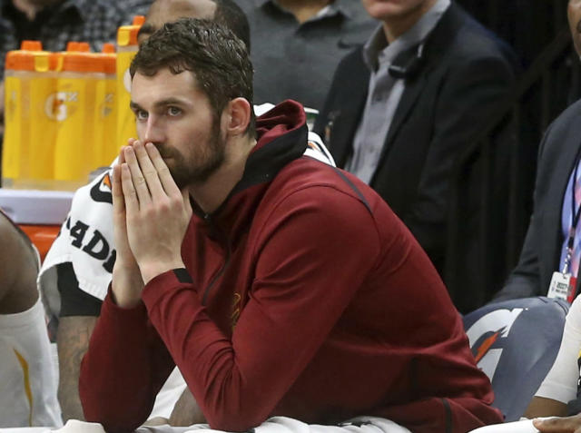 Kevin Love suffered a panic attack on Nov. 5 in a home game against the Atlanta Hawks. He was briefly hospitalized at the Cleveland Clinic. The episode left him shaken. (AP)