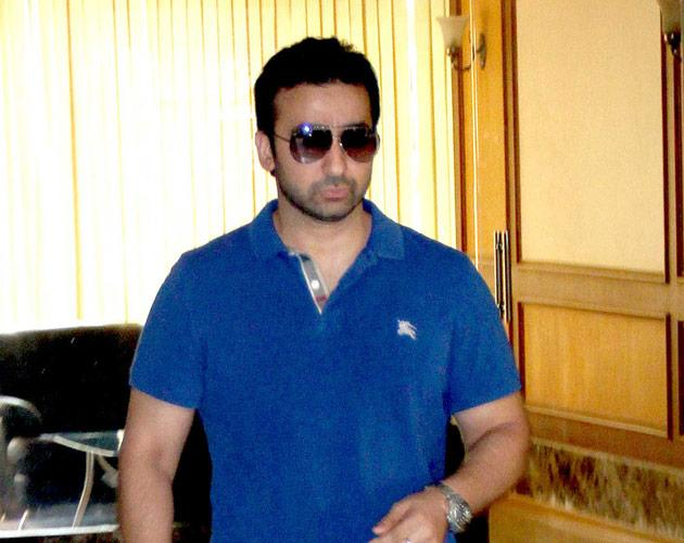 Raj Kundra leaves the Dutt residence. Raj Kundra and Sanjay Dutt are partners in the Super Fight League