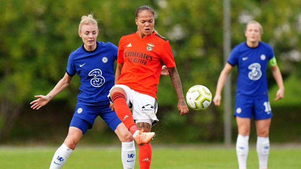 SL Benfica Women v Chelsea FC Women - UEFA Women's Champions League Round of 32 - First Leg   Gualter Fatia/Getty Images