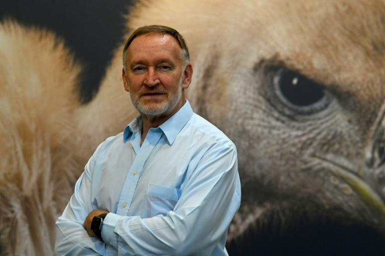 Craig Hilton-Taylor, head of the Red List Unit of the IUCN. Habitat loss, overexploitation and illegal trade have hammered global wildlife populations (AFP/Nicolas TUCAT)