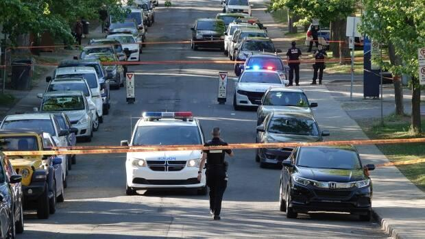 The shooting took place around 4 p.m. in Montreal North on Saturday.  (Kolya Hubacek-Guilbault/Radio-Canada - image credit)