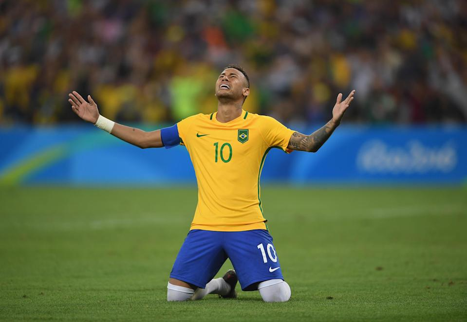 Neymar has experienced Olympic glory. But World Cup glory for him and Brazil would be much different. (Getty)