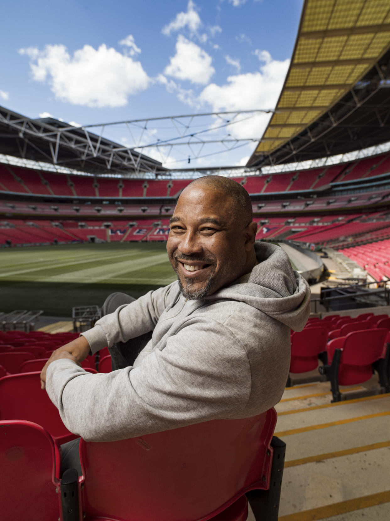 Former England ace John Barnes loved returning to his happy place - under the iconic arch of Wembley Stadium