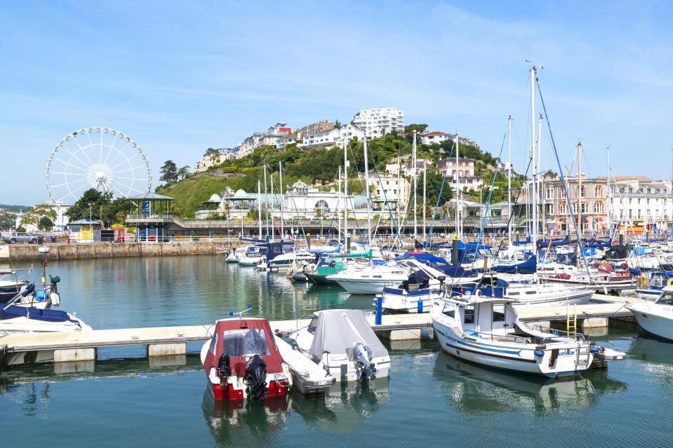 Yachts And Boats Moored In The Marina At Torquay, Devon, England, Britain, Uk. (Photo by: Education Images/Universal Images Group via Getty Images)