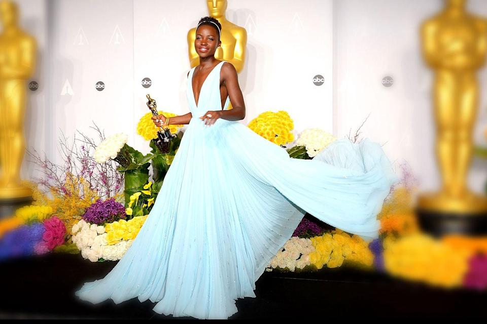 "<p>Lupita Nyong'o nabbed a Best Supporting Actress Oscar for her debut role in <em><a href=""https://www.amazon.com/12-Years-Slave-Benedict-Cumberbatch/dp/B00ICSVLPA/ref=sr_1_1?s=instant-video&ie=UTF8&qid=1547580586&sr=1-1&keywords=12+Years+a+Slave&tag=syn-yahoo-20&ascsubtag=%5Bartid%7C10055.g.5132%5Bsrc%7Cyahoo-us"" rel=""nofollow noopener"" target=""_blank"" data-ylk=""slk:12 Years a Slave"" class=""link rapid-noclick-resp"">12 Years a Slave</a></em>.</p>"