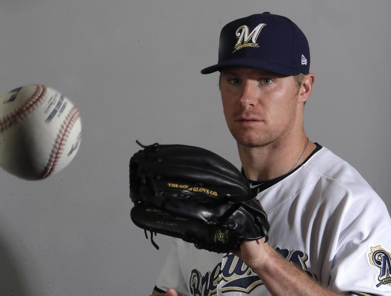 The Brewers have Chase Anderson as their No. 1 starter to open the season. (AP)