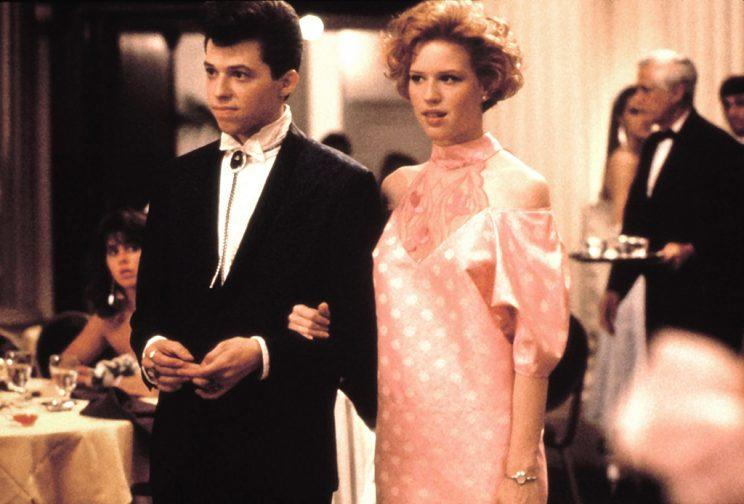 PRETTY IN PINK, Jon Cryer, Molly Ringwald, 1986