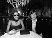 <p>Mick Jagger and wife Bianca Jagger at the Copacabana in New York City, 1976.</p>