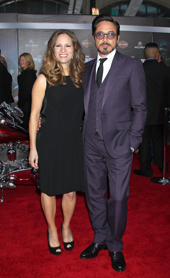 'The Avengers' world premiere in Hollywood, CA. Pictured: Robert Downey Jr. and Susan Downey  Ref: SPL381073  120412  Picture by: Russ Einhorn / Splash News   Splash News and Pictures Los Angeles:310-821-2666 New York:212-619-2666 London:870-934-2666 photodesk@splashnews.com