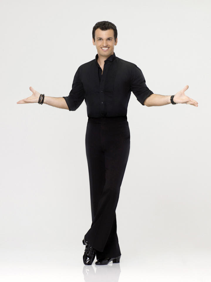 "Tony Dovolani, who returns for a 13th season, competes on Season 14 of ""<a href=""http://tv.yahoo.com/dancing-with-the-stars/show/38356"">Dancing With the Stars</a>."""