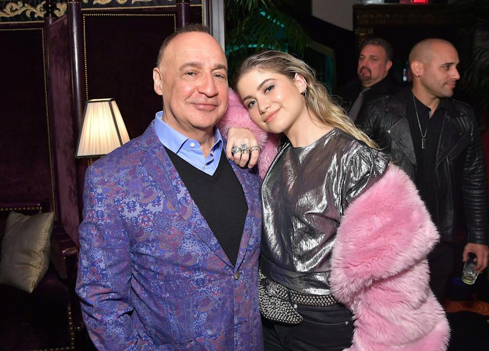 WMG Owner Len Blavatnik and Sofia Reyes attend the Warner Music Pre-Grammy Party at the NoMad Hotel on February 7, 2019 in Los Angeles, California. Photo: Stefanie Keenan/Getty Images for Warner Music