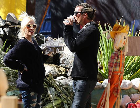 Gwen Stefani and her husband Gavin Rossdale at the pumpkin patch in Lake Arrowhead, Calif., Oct. 13, 2013
