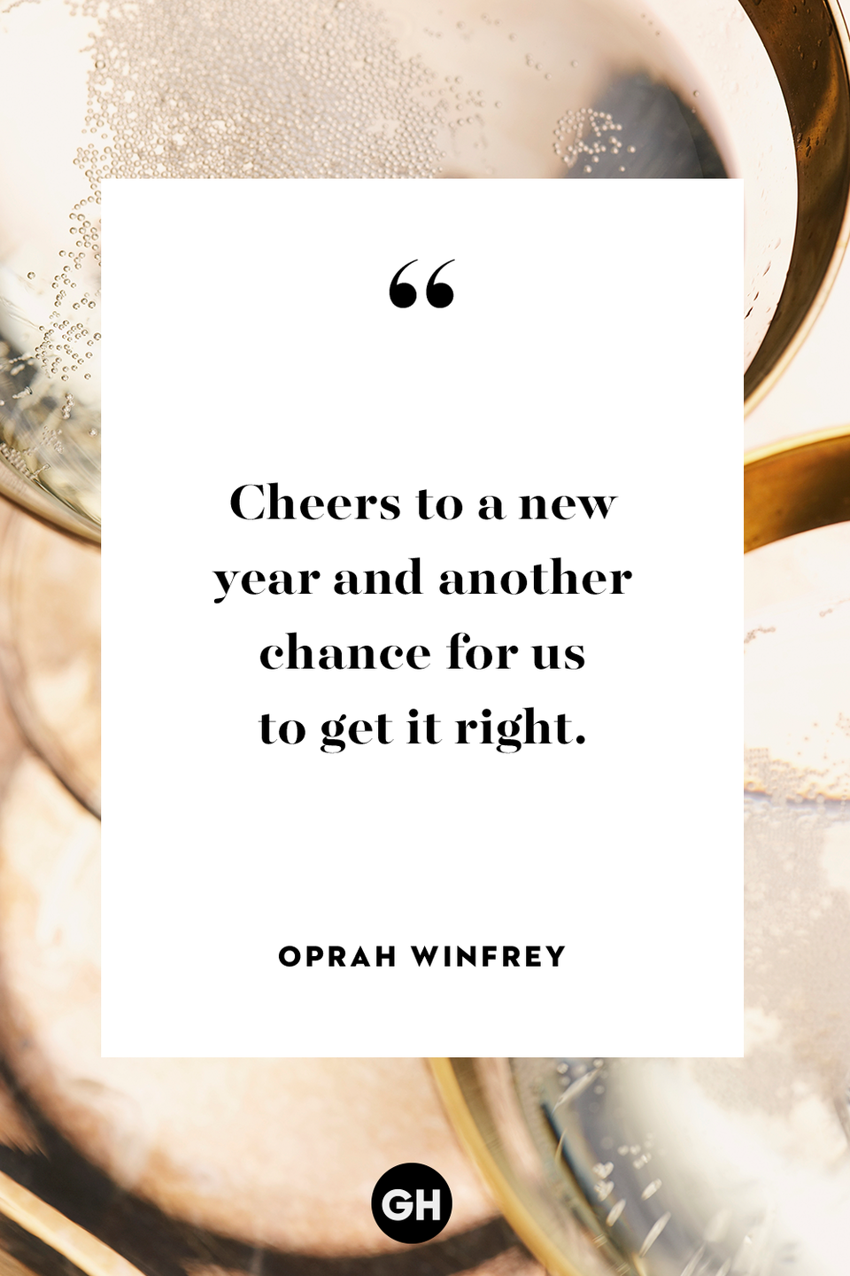 <p>Cheers to a new year and another chance for us to get it right. </p>