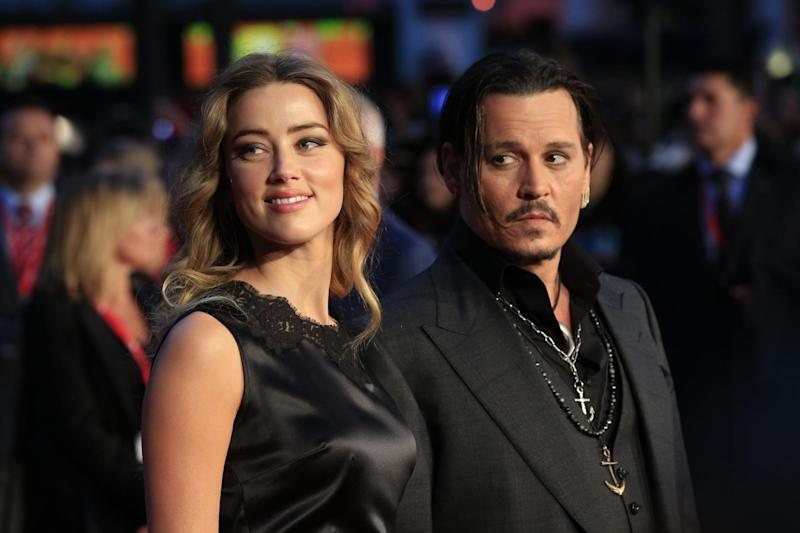 Split: Amber Heard and Johnny Depp: PA
