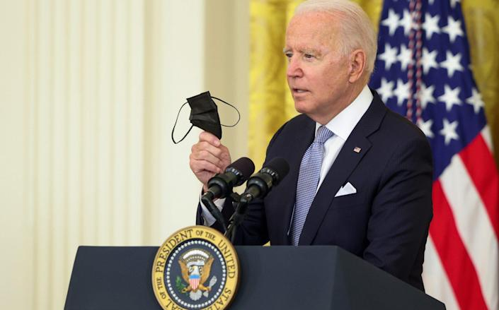 Joe Biden is urging more Americans vaccinated and plan to combat the spread of the Delta variant - Anna Moneymaker /Getty