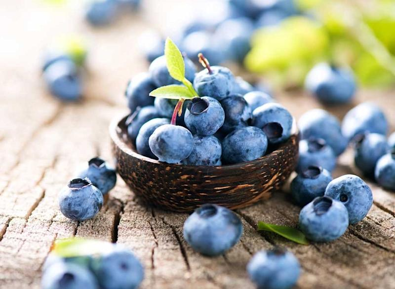 Sugary fruits ranked blueberries