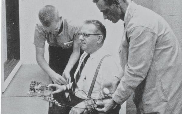 The Milgram Experiment being conducted in the 1960s - Pacific Standard