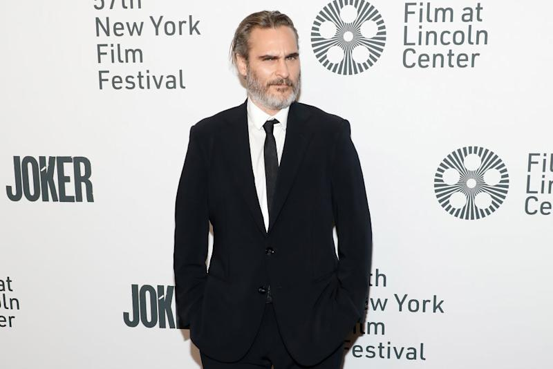 "NEW YORK, NEW YORK - OCTOBER 02: Joaquin Phoenix attends a New York screening of ""Joker"" during the 57th annual New York Film Festival at Alice Tully Hall, Lincoln Center on October 02, 2019 in New York City. (Photo by Taylor Hill/FilmMagic)"