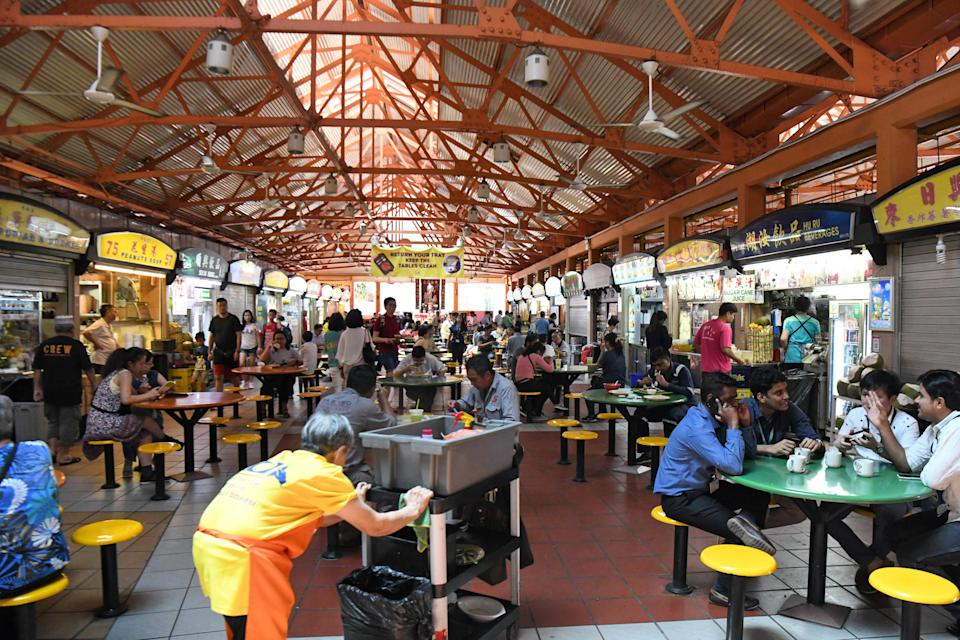 Maxwell Hawker Centre in Singapore. (AFP via Getty Images file photo)
