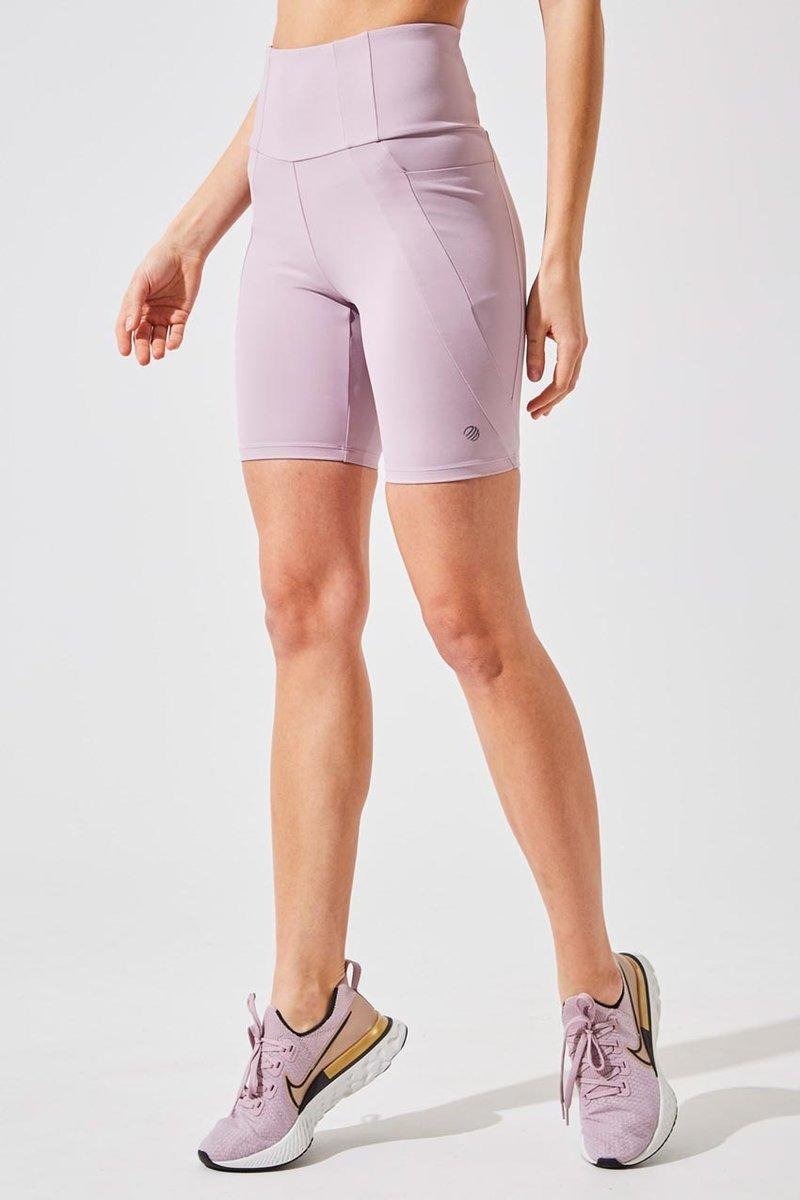 Rider High Waisted Recycled Nylon Biker Short. Image via MPG Sport.