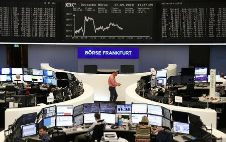 The German share price index DAX graph is pictured at the stock exchange in Frankfurt, Germany, September 17, 2018.    REUTERS/Staff/File Photo