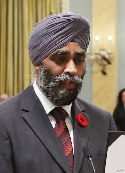 Canada's Defence Minister Harjit Sajjan (AFP Photo/Chris Wattie)
