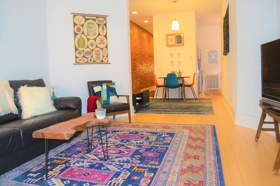 """<p>airbnb.com</p><p><strong>$89.00</strong></p><p><a href=""""https://www.airbnb.com/rooms/22704423"""" rel=""""nofollow noopener"""" target=""""_blank"""" data-ylk=""""slk:BOOK NOW"""" class=""""link rapid-noclick-resp"""">BOOK NOW</a></p><p>This condo in Logan Circle is perfect for capital visitors ready to explore national monuments and museums. Its central location means guests can walk to most of the district's famous sights. </p>"""