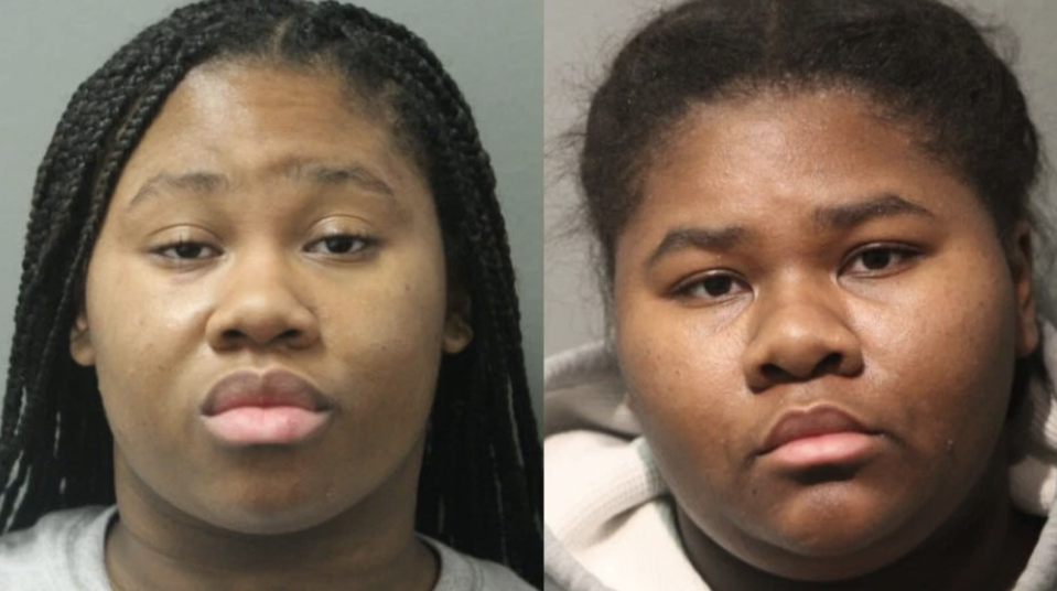 Pictured are Jayla Hill (left), 18, Jessica Hill (right), 21, after their arrests.
