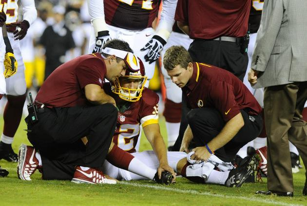 Kirk Cousins knocked out of game with sprained foot, another potential QB problem for Redskins