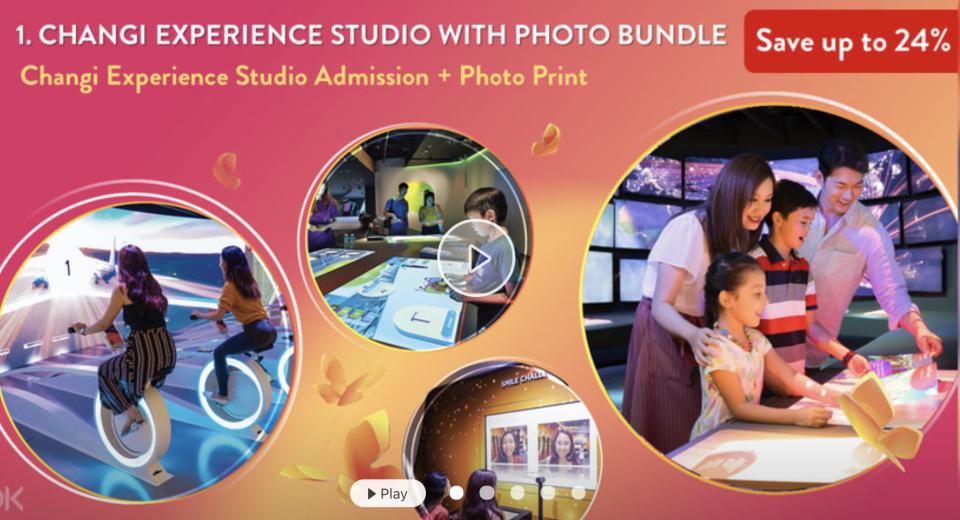 PHOTO: Klook. Changi Experience Studio Admission Ticket