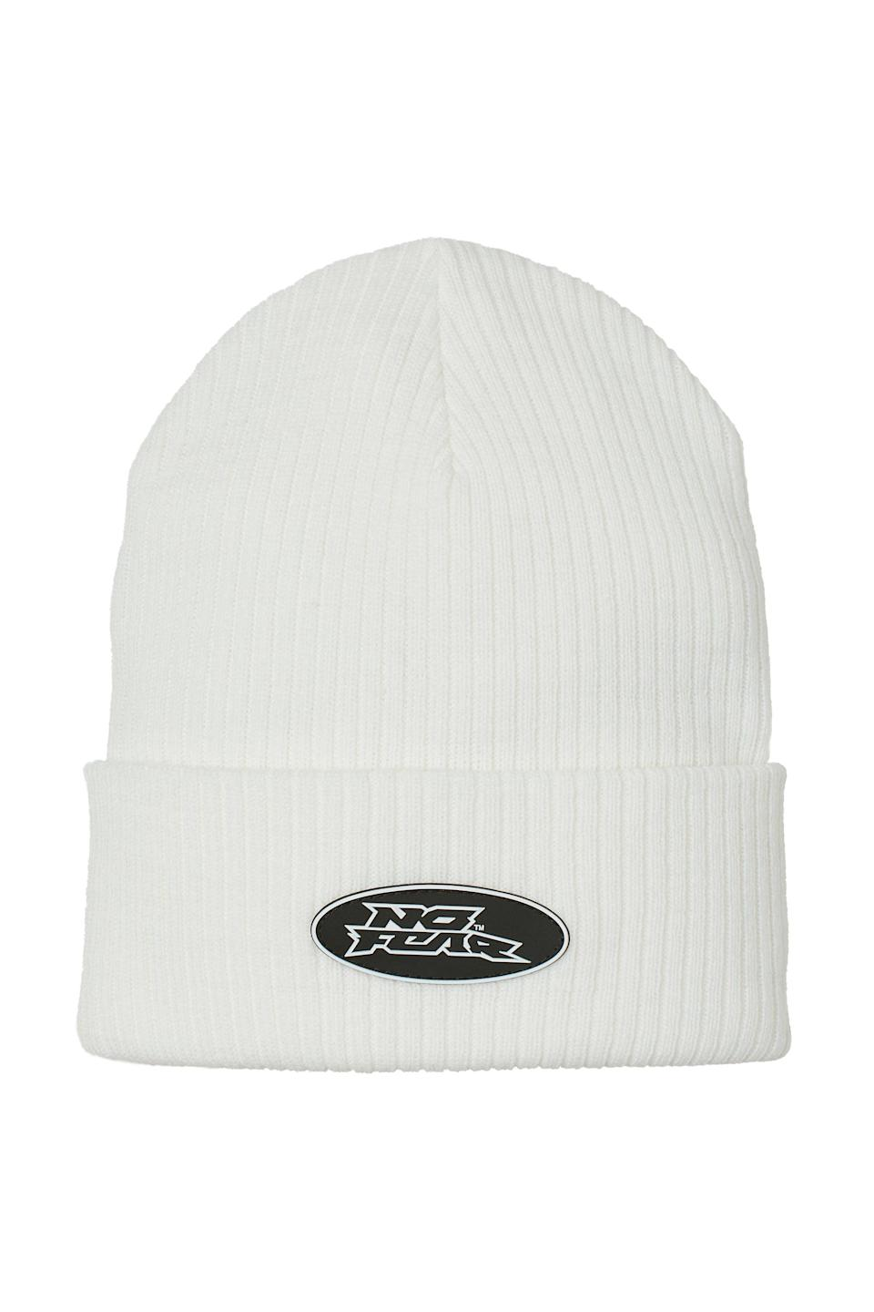 <p>This <span>No Fear x H&amp;M Knit Hat</span> ($10) will look great with a winter white outfit. It's the perfect finishing touch to any outfit.</p>