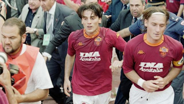 <p>That 2000/01 season will forever remain an historic one for Roma's favourite son. That year was the only time Totti has ever won the Serie A title, and he played a huge part on the way to winning the crown.</p> <br><p>He hit a then personal record 13 league goals that season, and helped his side seal the Scudetto by scoring in a 3-1 win over Parma in June 2001.</p> <br><p>Vincenzo Montella and Gabriel Batistuta also scored on the day. Not a bad front three...</p>
