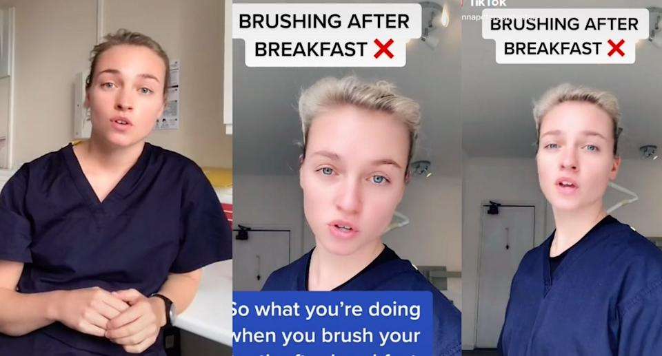 Anna Peterson, a dental therapist from London, England, has gone viral on TikTok.