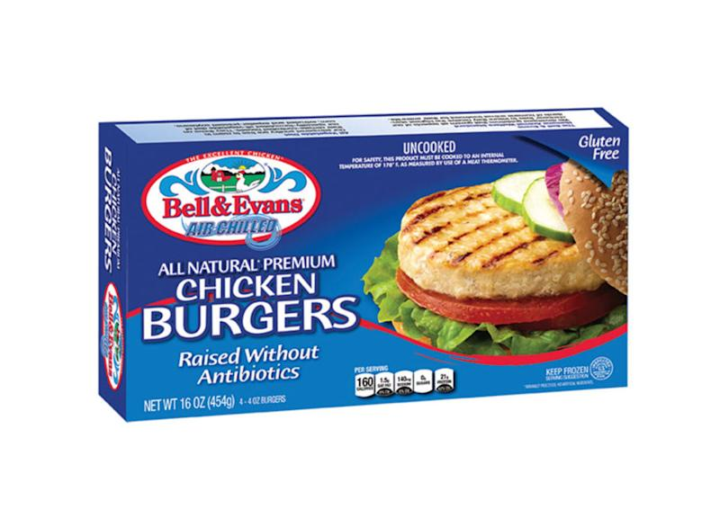 bell and evans chicken burger box