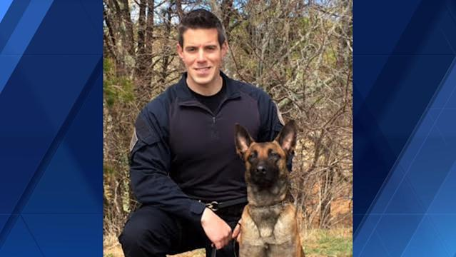 Sean Gannon was a member of the Yarmouth Police Department in Massachusetts for eight years and was the first full-time K-9 officer for the department. His K-9 partner, Nero, was wounded in a shooting that killed Officer Gannon. (Photo: WBZ-TV)