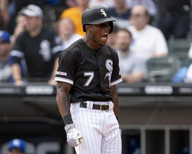 Tim Anderson was fired up after hitting a home run. (Getty Images)
