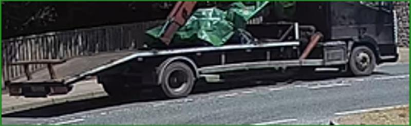 Police want to trace this vehicle in connection with the burglary (Devon and Cornwall Police/PA).