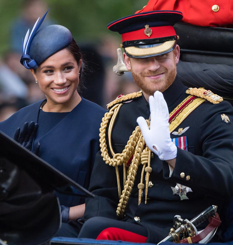 Meghan Markle and Prince Harry attended a baseball game between the Boston Red Sox and the New York Yankees in Europe. (Photo: Getty Images)