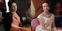 """<p>""""I thought [King Edward VIII] was ahead of his time. I thought he had pep. I thought he wanted to establish things that the world was not ready for,"""" Wallis Simpson, the Duchess of Windsor, <a href=""""http://www.bbcamerica.com/anglophenia/2011/02/wallis-simpson-how-an-american-stole-the-heart-of-a-british-king"""" rel=""""nofollow noopener"""" target=""""_blank"""" data-ylk=""""slk:told the BBC in a 1970 interview"""" class=""""link rapid-noclick-resp"""">told the BBC in a 1970 interview</a>. Thirty-two years prior, the American socialite's relationship with King Edward VIII changed the British royal family forever. Edward abdicated the throne to be with Wallis, which paved the way for King George VI and later Queen Elizabeth II. It was also pretty controversial because Wallis had been married previously. Together, the Duke and Duchess of Windsor (played by English actress Lia Williams on <em>The Crown</em>) lived a life of leisure, hanging with their many pugs (see next slide) and hosting dinner parties all over the world. Wallis died in 1986, some 14 years after the Duke of Windsor's death.</p>"""
