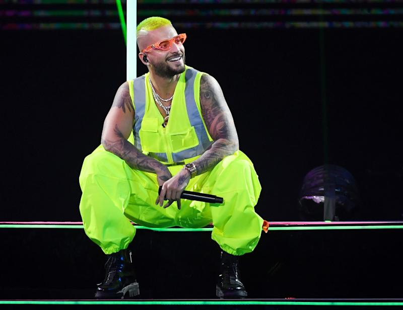 LAS VEGAS, NEVADA - SEPTEMBER 14: Singer/songwriter Maluma performs at the Mandalay Bay Events Center on September 14, 2019 in Las Vegas, Nevada. (Photo by Ethan Miller/Getty Images)