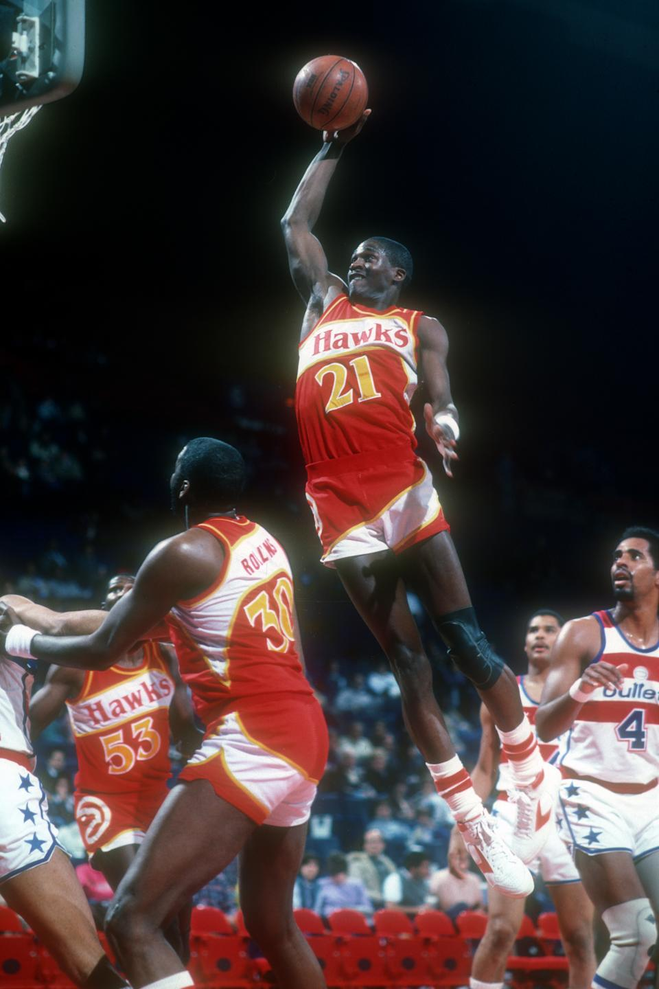 Dominique Wilkins(灌籃者)。(Photo by Mitchell Layton/Getty Images)