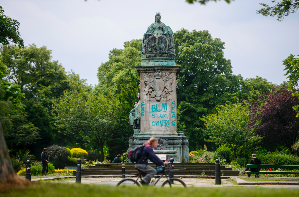 The statue is situated at Woodhouse Moor in Leeds. (SWNS)