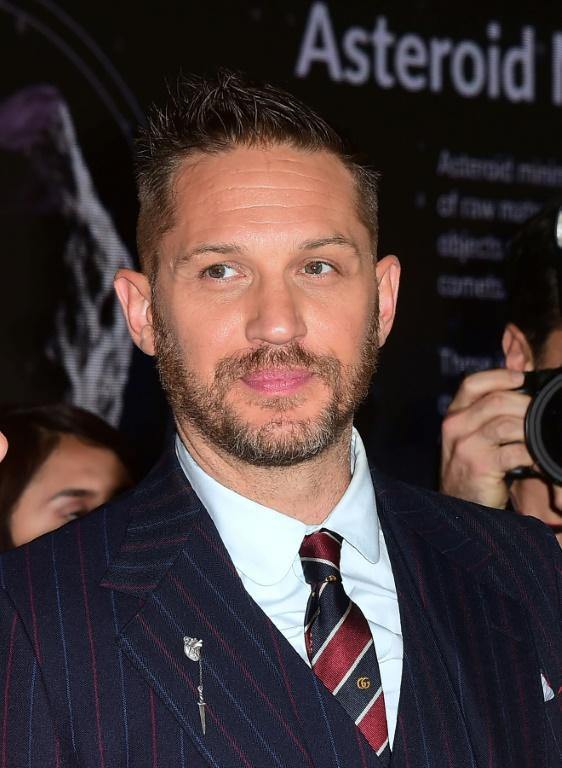 Tom Hardy often plays a villain or at least an anti-hero in films like 'The Dark Knight Rises', 'Venom' and 'Mad Max: Fury Road' (AFP/Frederic J. BROWN)