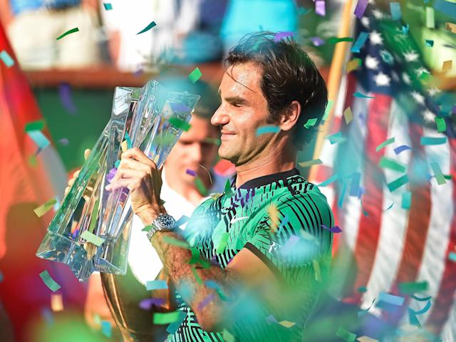Roger Federer claimed his fifth Indian Wells title on Sunday: Getty